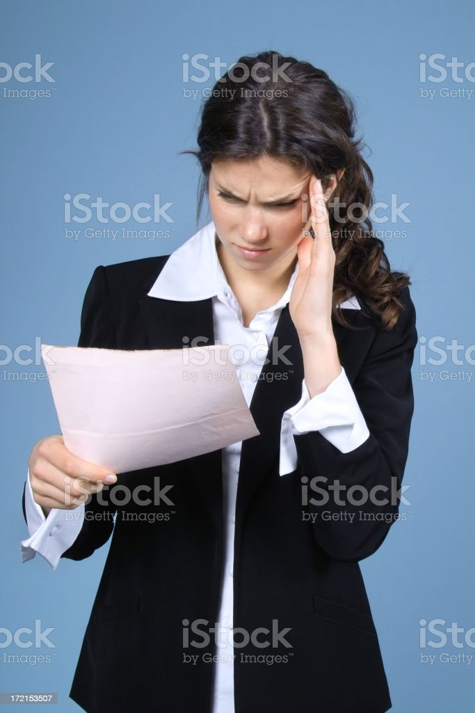 Painful Reading royalty-free stock photo