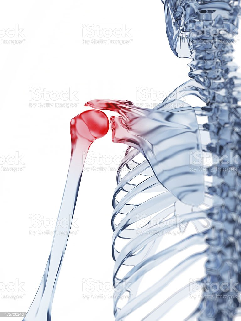 painful shoulder stock photo