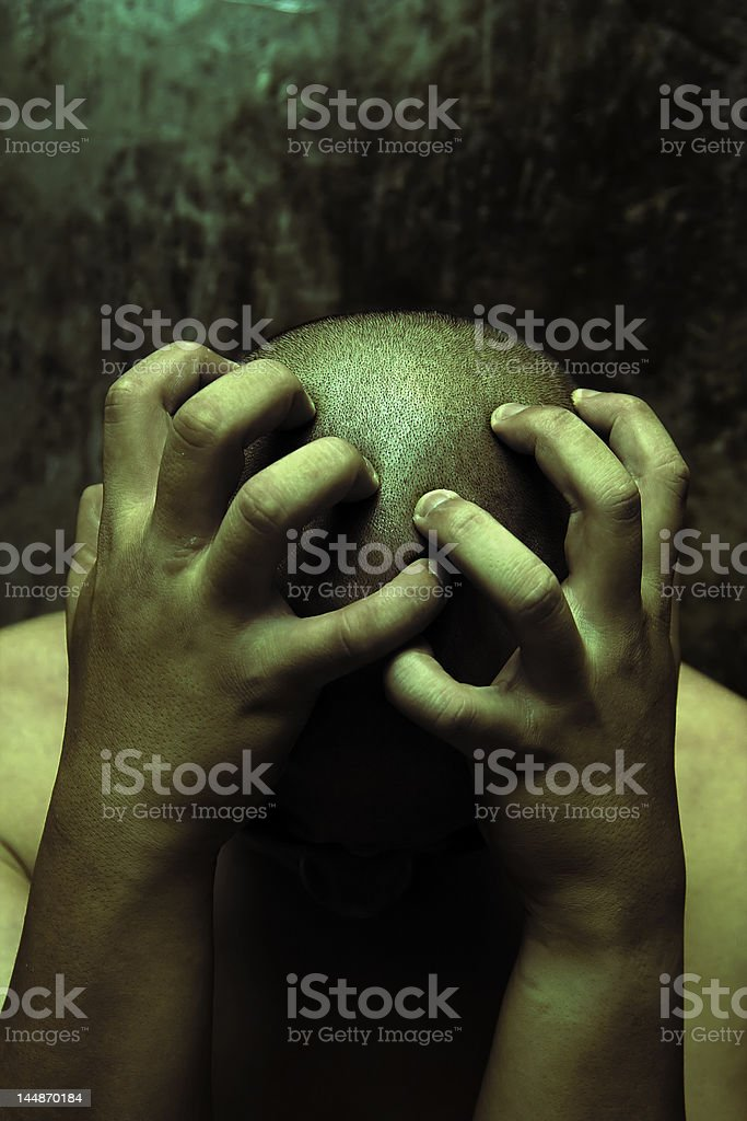 painful stress or depression royalty-free stock photo