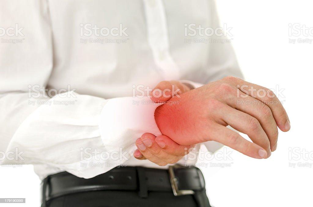 Painful wrist royalty-free stock photo