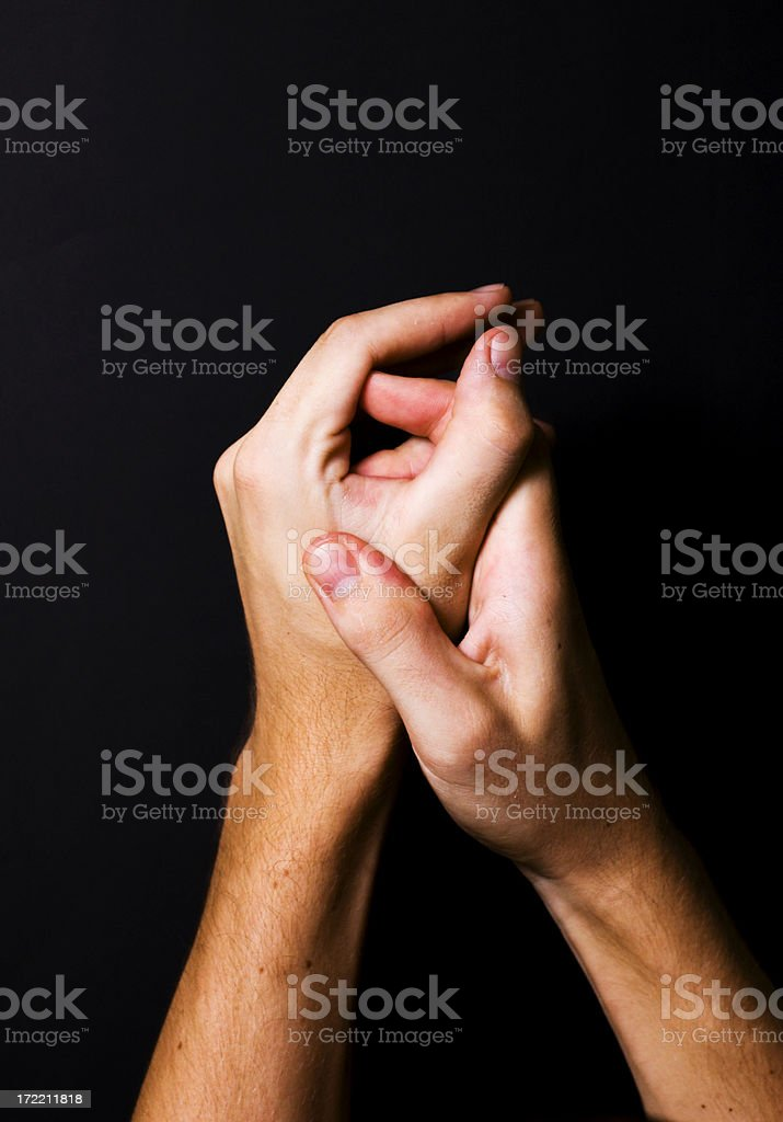 Painfull hands royalty-free stock photo