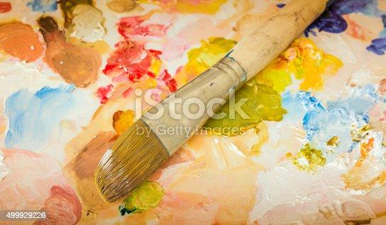 510006691 istock photo Paint and brush 499929226