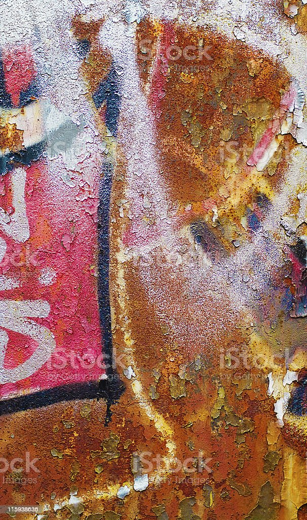 Paint and rust royalty-free stock photo