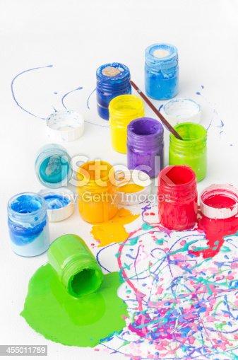istock Paint bottles 455011789