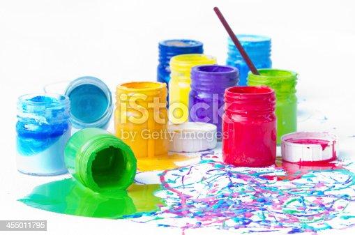 istock Paint bottles 455011795