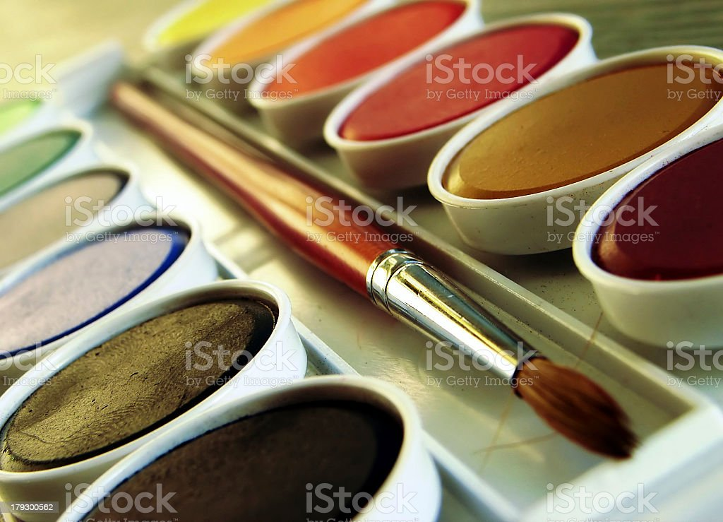Paint Box royalty-free stock photo