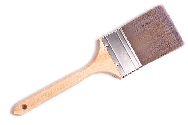 Paint Brush + Clipping Path Generic timber handled paint brush. paintbrush stock pictures, royalty-free photos & images