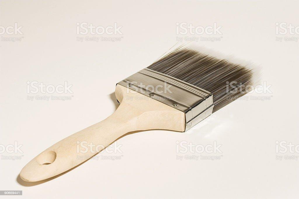 Paint Brush Facing Away royalty-free stock photo