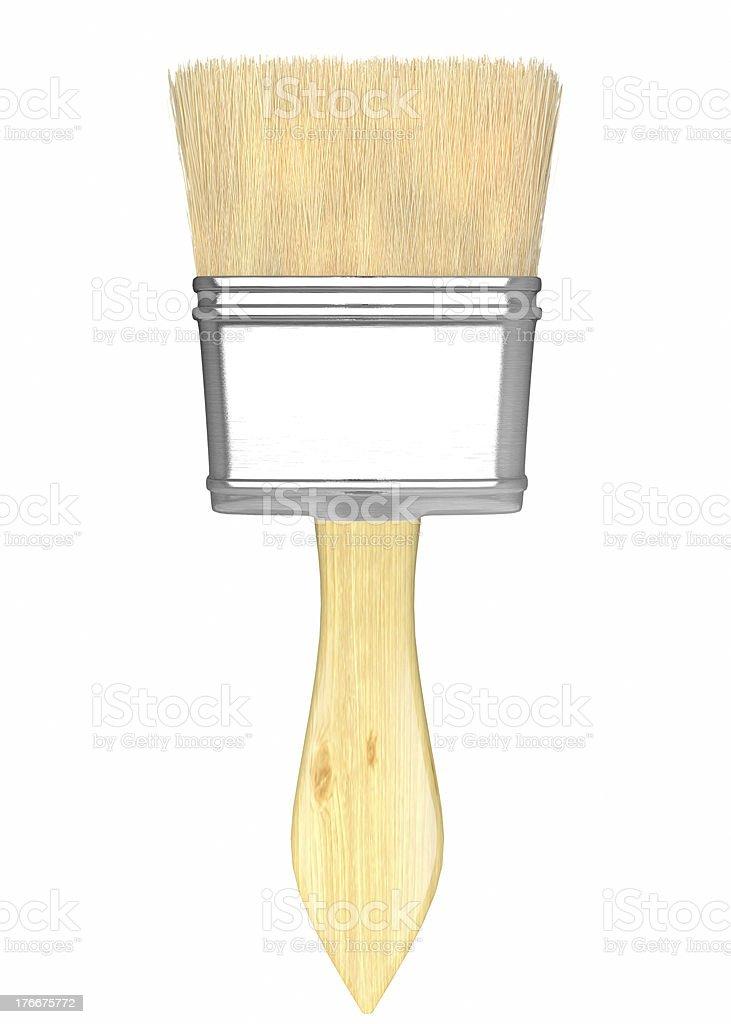 Paint brush isolated on white. royalty-free stock photo