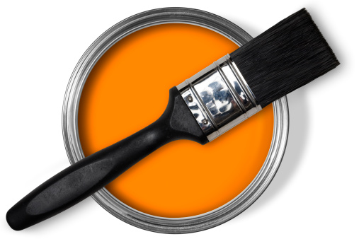 Paint brush on tin of orange paintIf you need a different colour please sitemail me