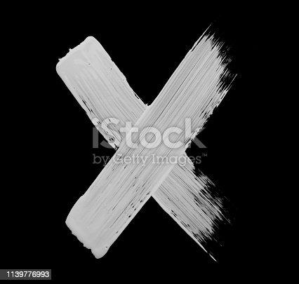 istock Paint brush Stroke Letter X 1139776993