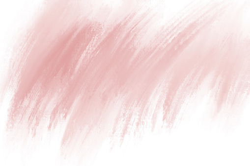Paint brush stroke on white background with copy space