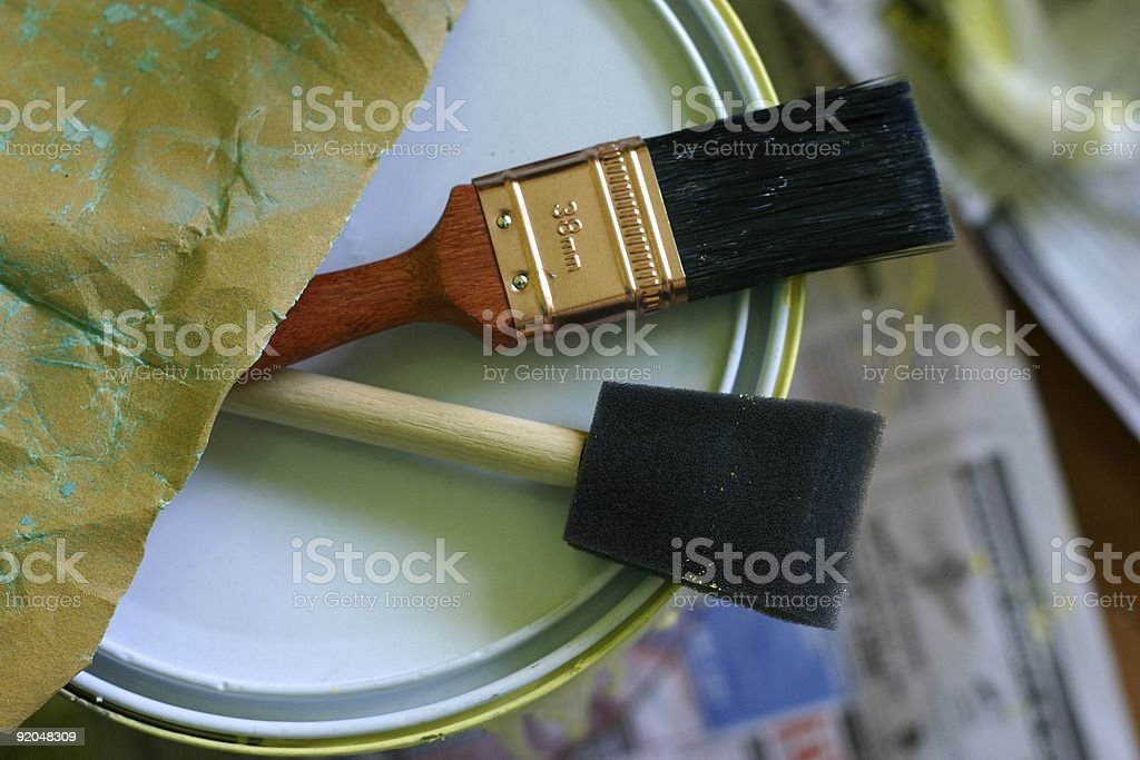 Paint Brush / Tools and Can royalty-free stock photo
