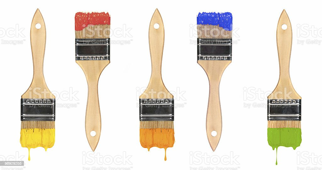 Paint Brushes Dripping royalty-free stock photo