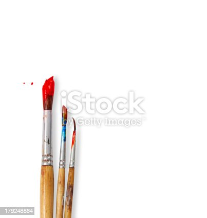 istock paint brushes isolated on white background 179248864