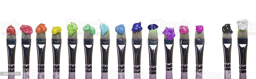 Pinsel mit Farben – Foto
