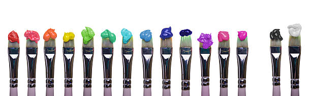 Paint Brushes of palette stock photo