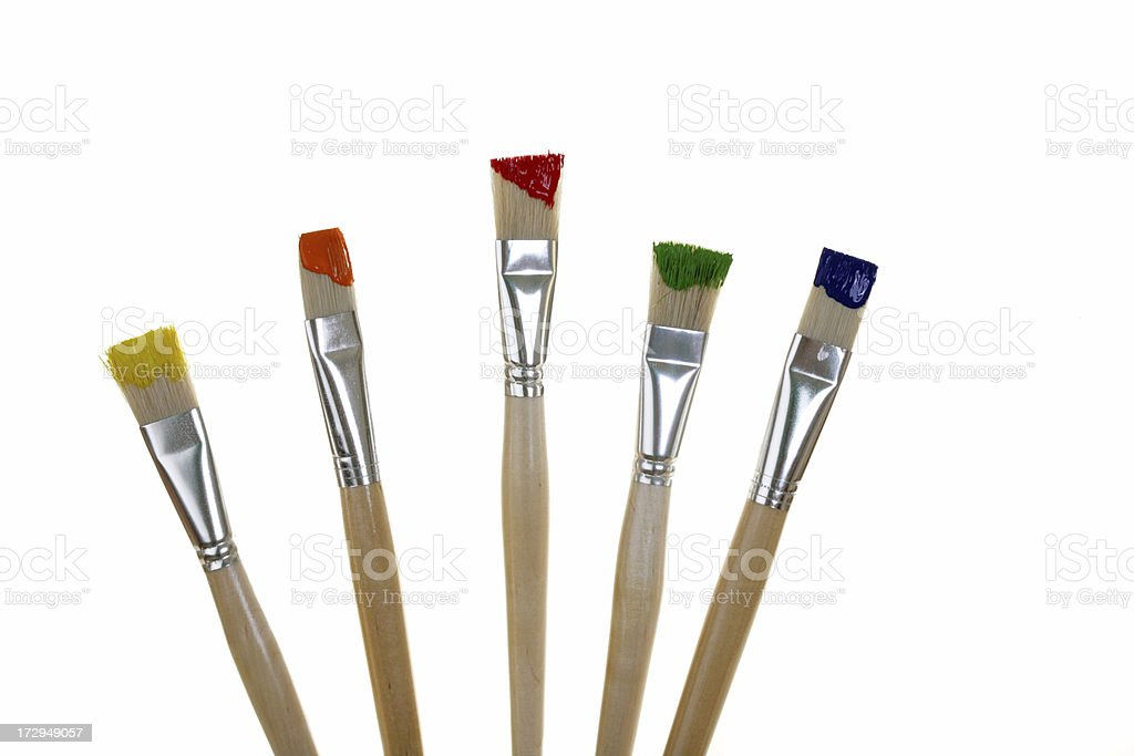 paint brushes royalty-free stock photo