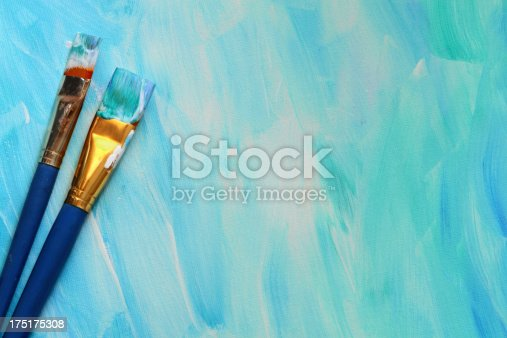 649470770 istock photo Paint Brushes with painted background 175175308