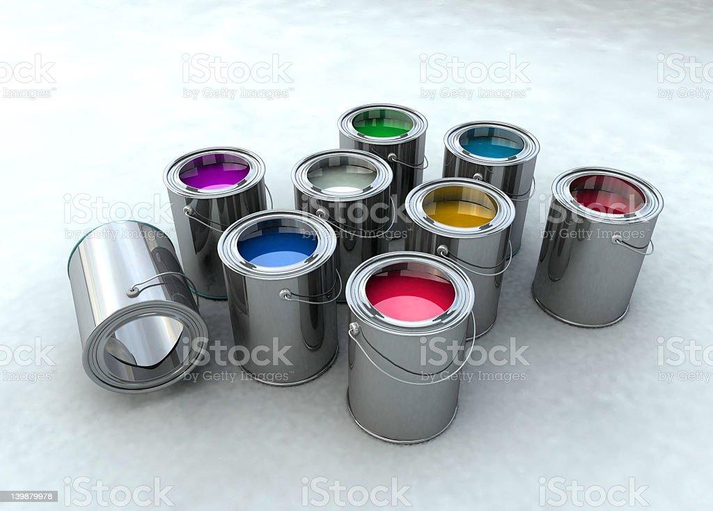 Paint bucket royalty-free stock photo