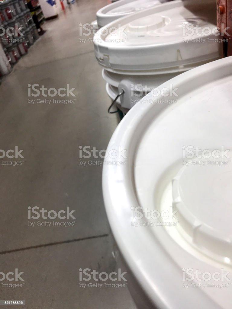 Paint bucket stock photo