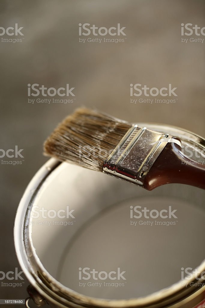 Paint Can and Brush royalty-free stock photo