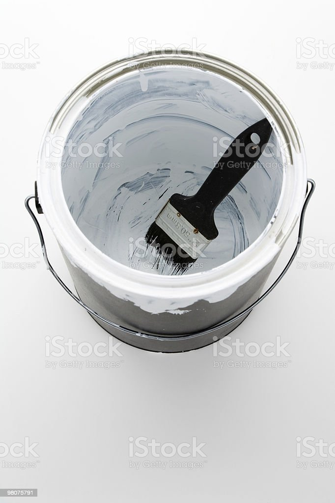 Paint Can and Paintbrush royalty-free stock photo