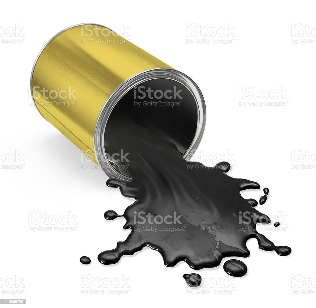 Paint can fallen royalty-free stock photo