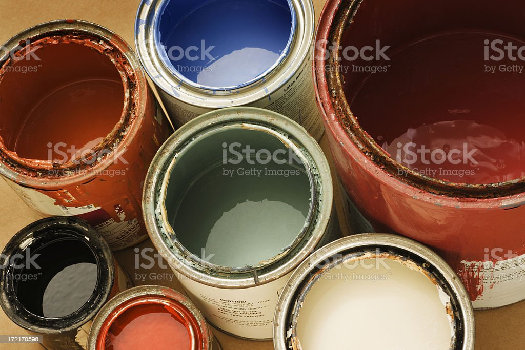 Paint Can for House Painting for Home Improvement Decorating stock photo