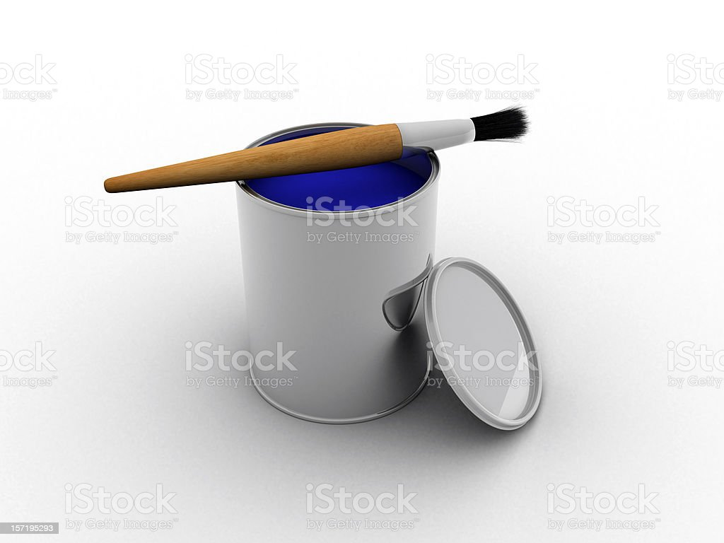 Paint can (3D) royalty-free stock photo