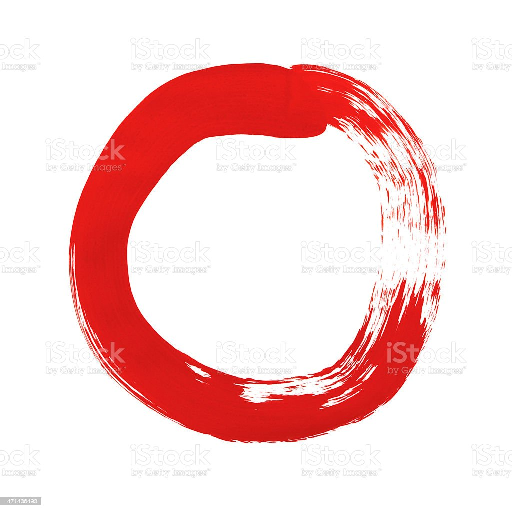 Paint Circle stock photo