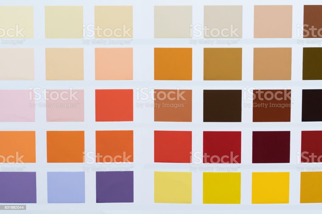 Paint Color Chart In Close Up Stock Photo More Pictures Of