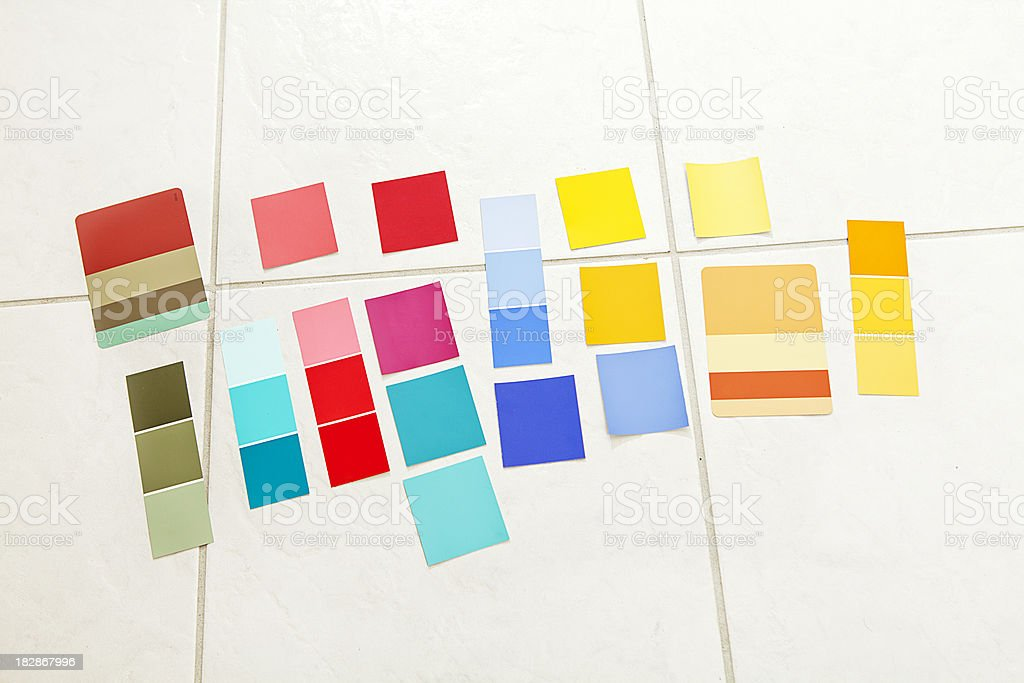 paint color swatches royalty-free stock photo