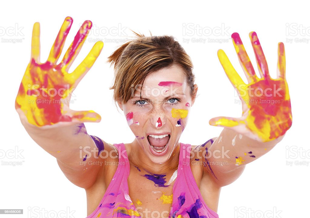 paint color woman royalty-free stock photo
