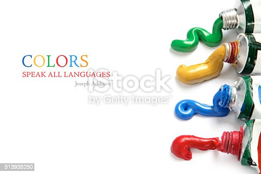 istock paint colors flowing from the tubes on white 513935250