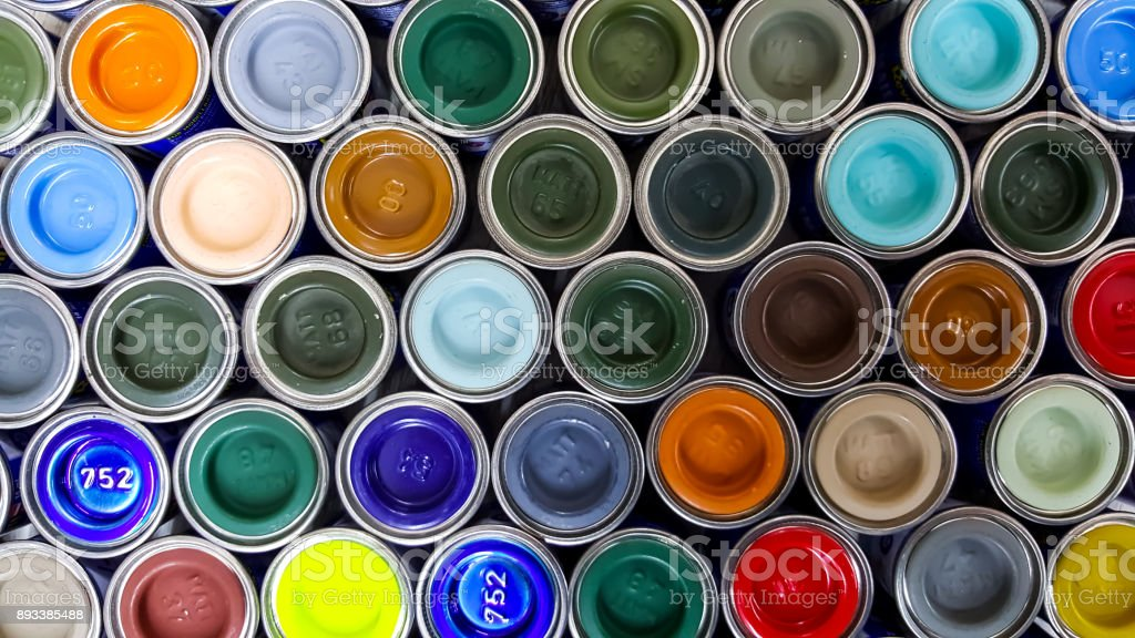 Paint colors stock photo
