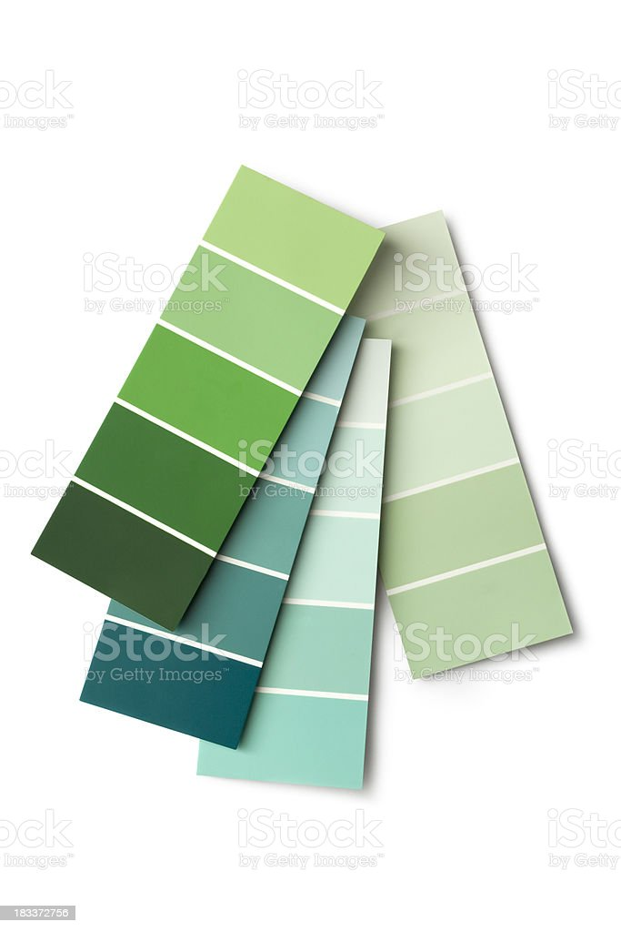 Paint: Colour Samples Green royalty-free stock photo