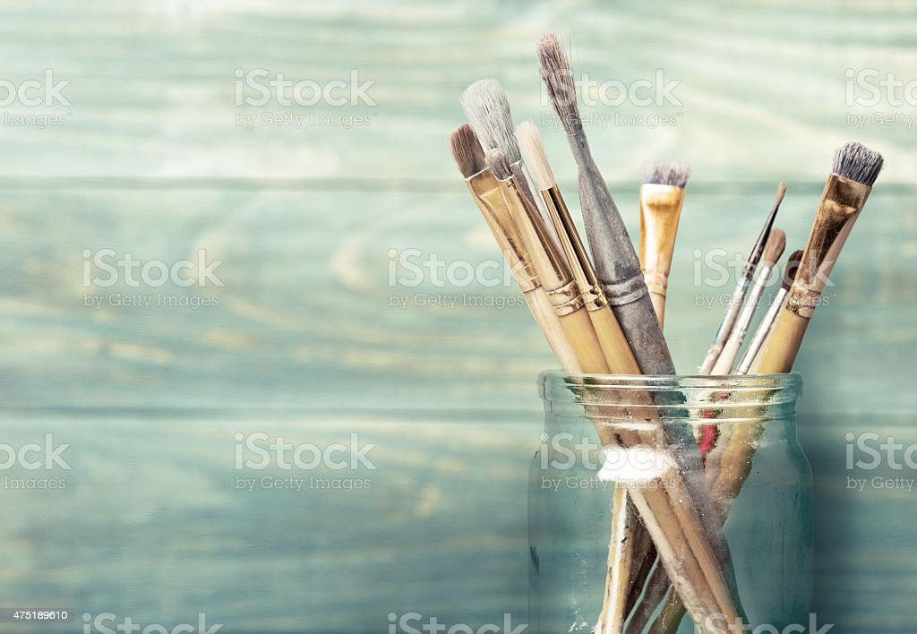 Paint, craft, brush stock photo