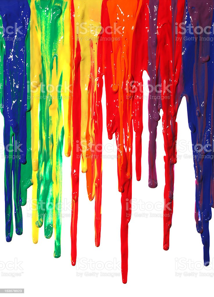 Paint dripping stock photo