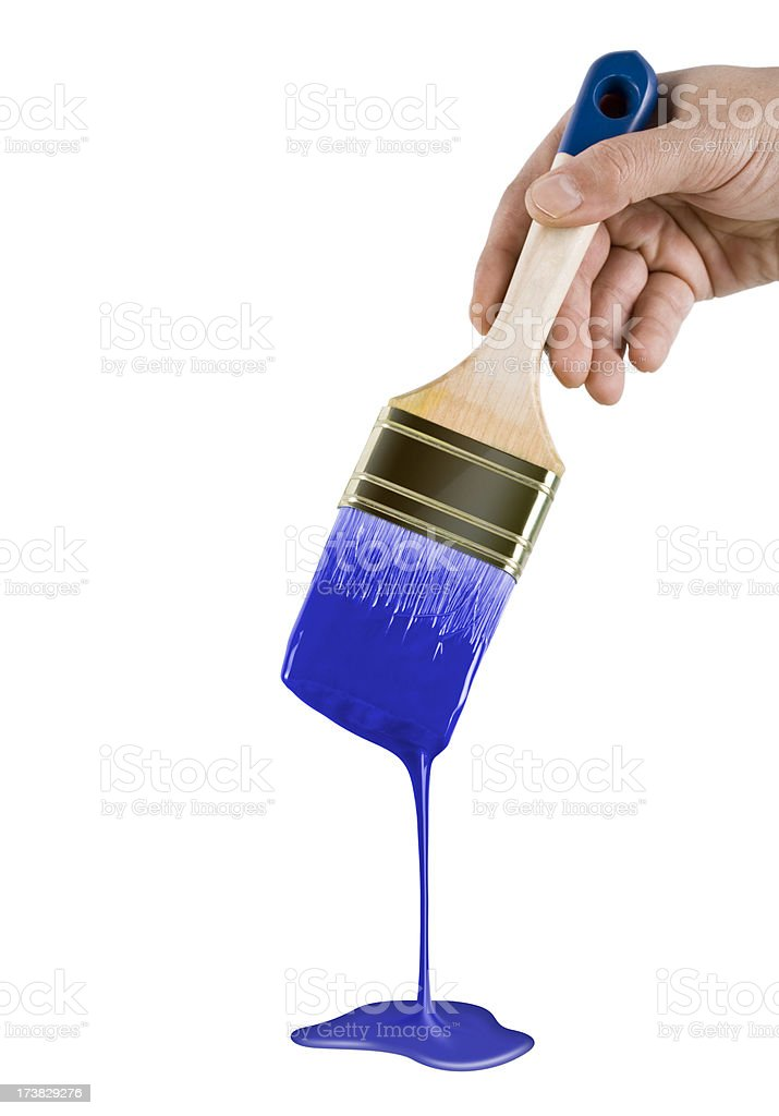 Paint dripping royalty-free stock photo