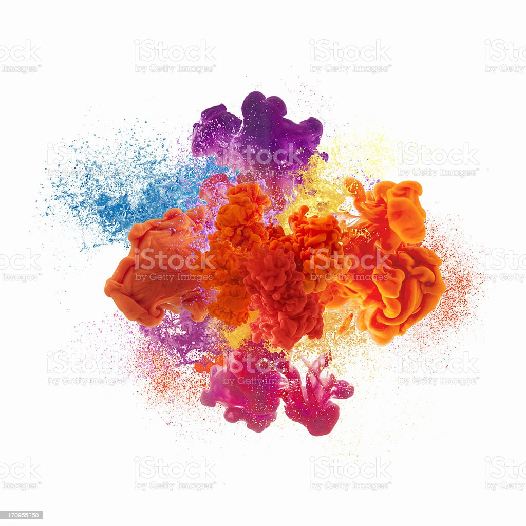 Paint explosion royalty-free stock photo