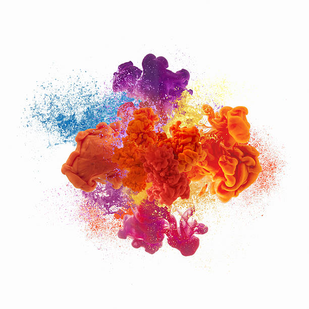 paint explosion - splashing stock photos and pictures