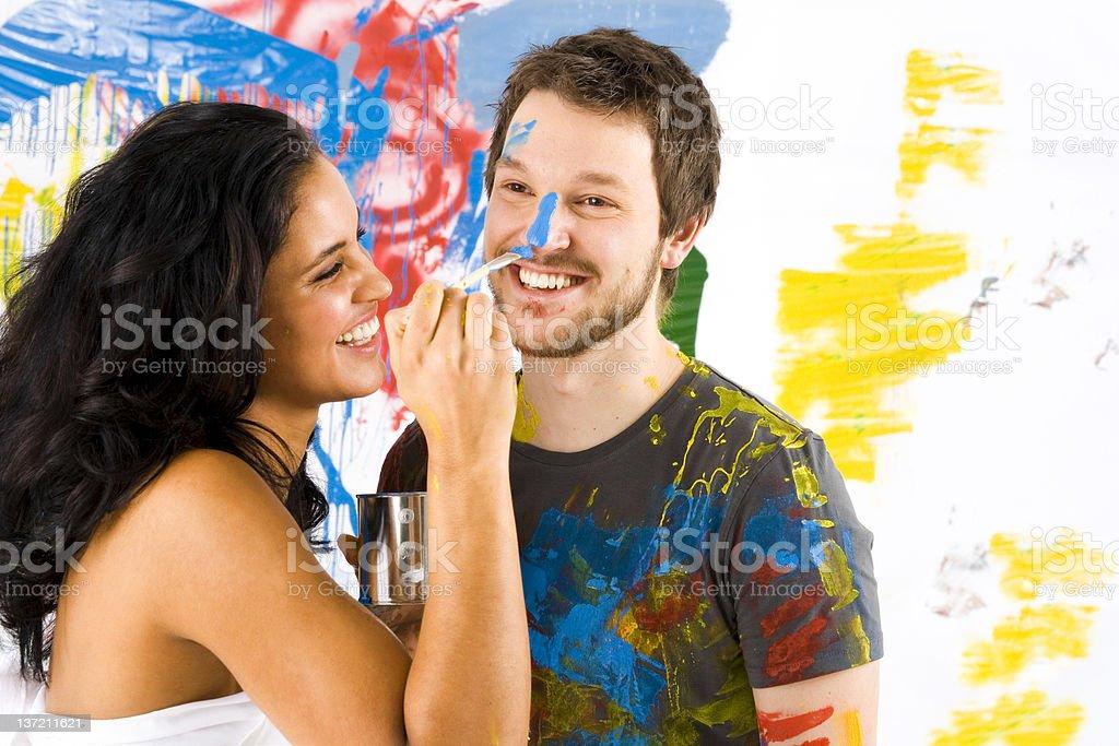 Paint fun royalty-free stock photo