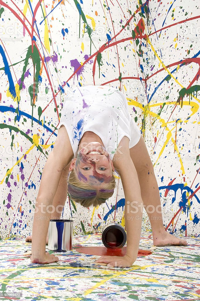 Paint Girl royalty-free stock photo
