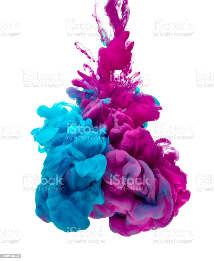 paint in water color liquid stock photo