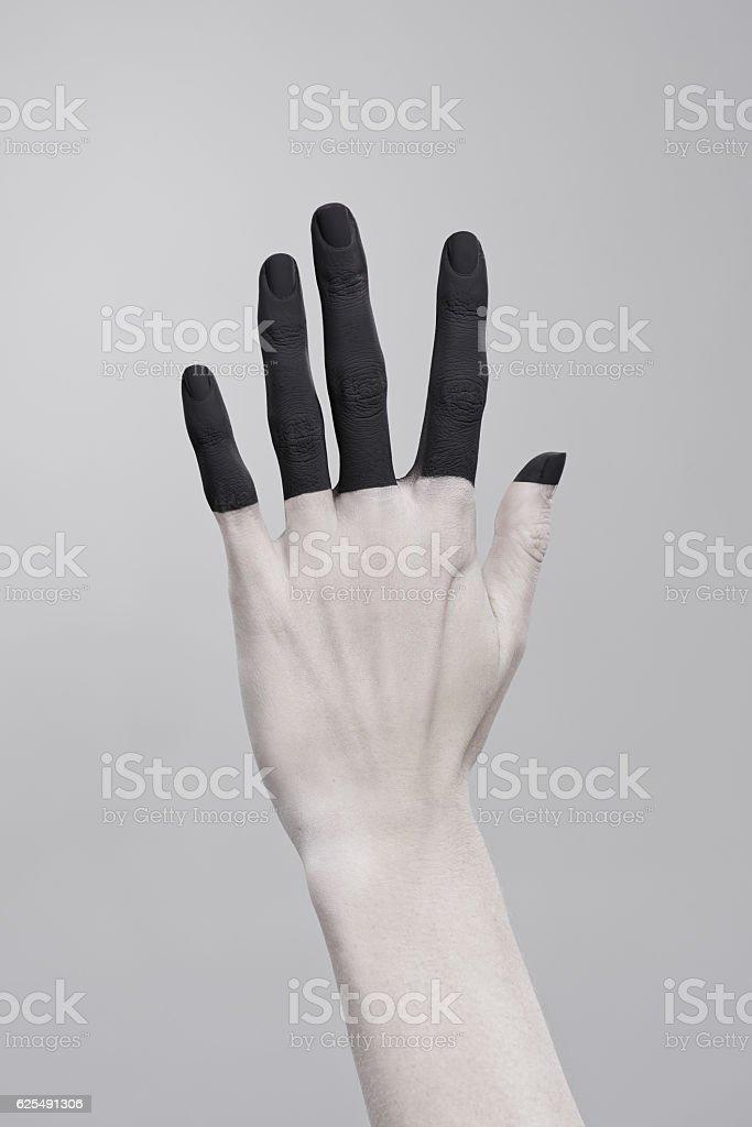 Vernice, nero - foto stock