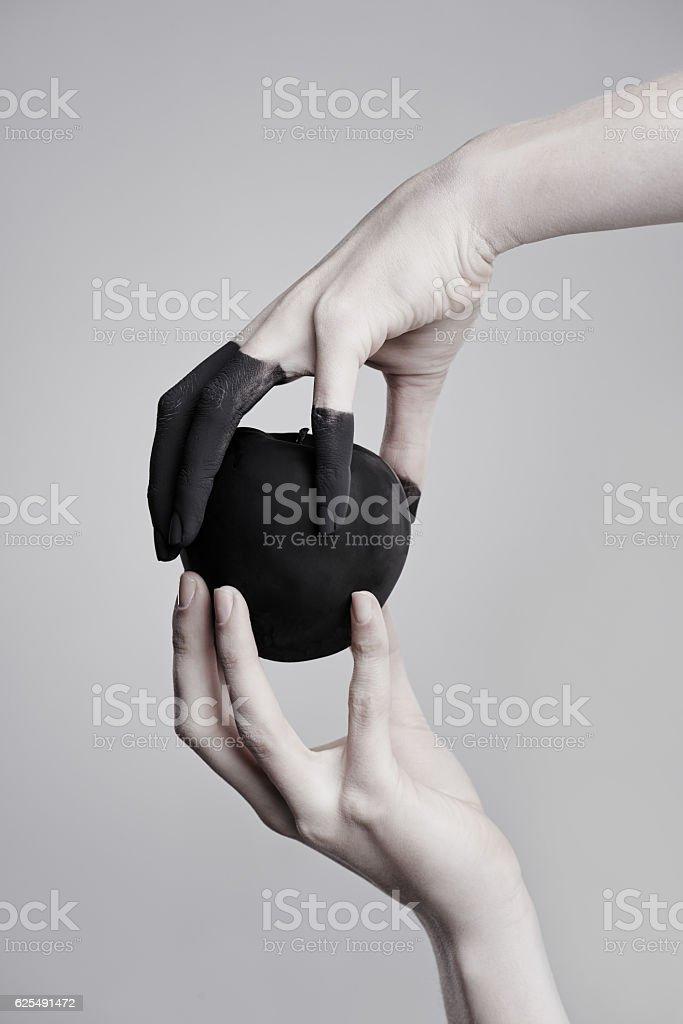 Paint it black stock photo
