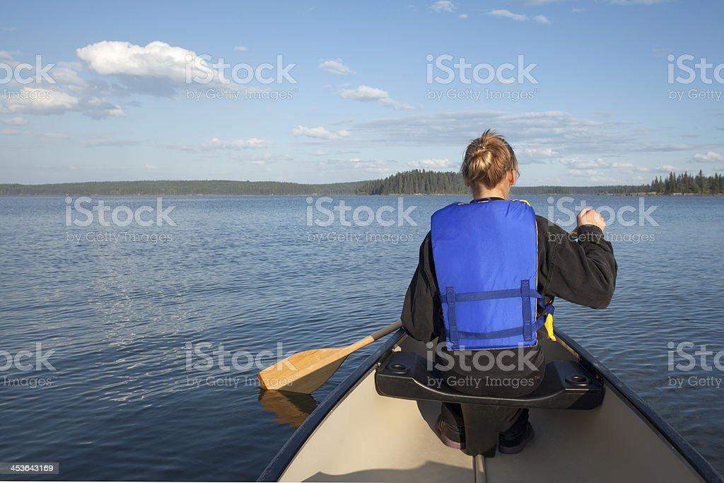 Paint Lake Provincial Park royalty-free stock photo