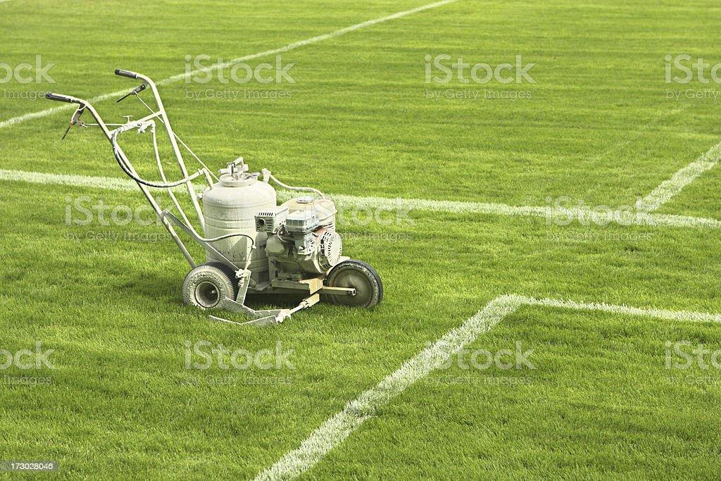 Paint Machine Stadium Turf Stripe Tool royalty-free stock photo