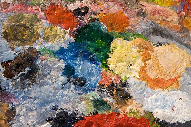 Farbe auf der palette aus – Foto